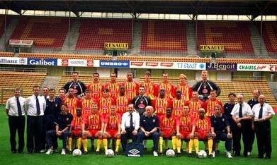 Les joueurs du rc lens saison 1998 1999 - Rc lens coupe de la ligue ...